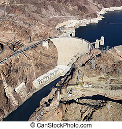 Hoover Dam, Lake Mead.