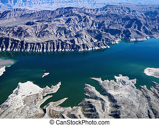 Aerial of Lake Mead - Aerial view of Lake Mead