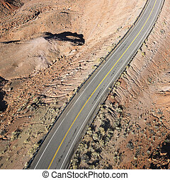 Scenic highway in Utah.