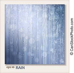 Grey shiny rain. Abstract water background design. Rainy...