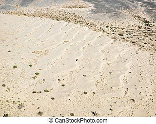 California desert - Aerial view of desolate torrid...