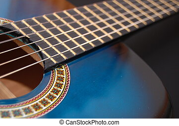 blue music guitar for playing party music  - guitar