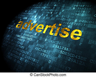 Advertising concept: Advertise on digital background -...