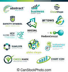 Set of business abstract icons - Set of vector icons