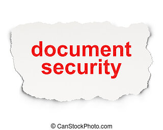 Protection concept: Document Security on Paper background