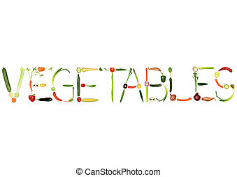 Vegetables - Vegetable selection spelling the word...