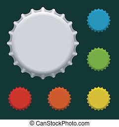 Bottle caps - Colorful bottle caps vector