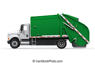 Garbage Truck Isolated - Garbage Truck isolated on white...