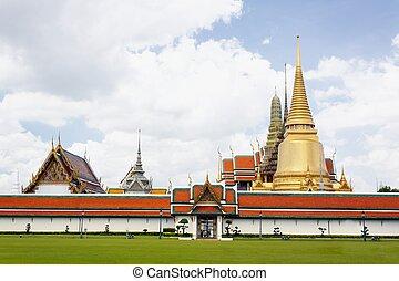 Wat Phra Kaeo at grand palace, thailand.