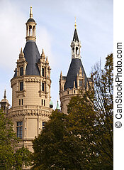 Castle of Schwerin in Germany