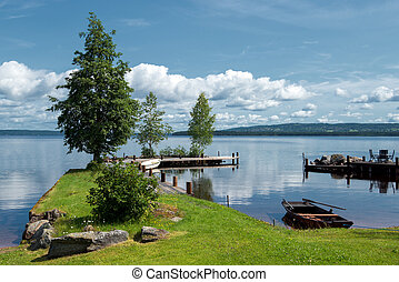 Summer morning at Lake Siljan - Quiet summer morning at Lake...