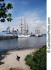 Tall Ship in Kiel, Germany