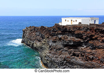 House at worlds end, El Hierro, Canary Islands