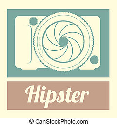 hipster design over vintage background vector illusrtration