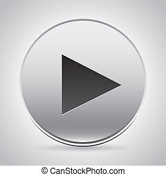 play button over gray background vector illustration