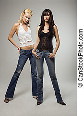 Two pretty women.