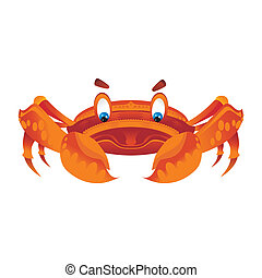 orange crub - crab cute cartoon style