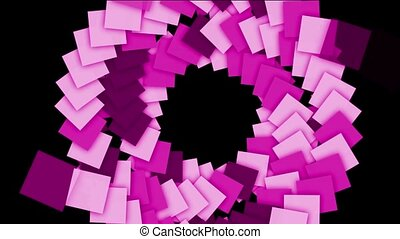 rotation plastic square card paper tunnel hole,math geometry...