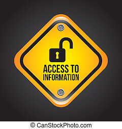 access to information over black background vector...