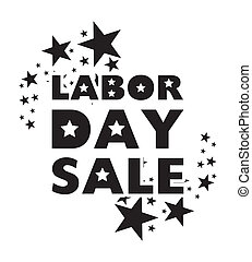 labor day sale over white background vector illustration
