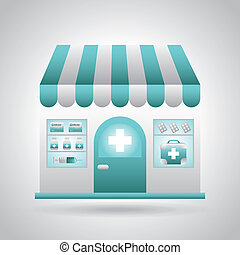 pharmacy design over gray background vector illustration