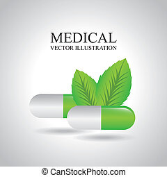 medical design over gray background vector illustration