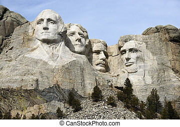 Mount Rushmore. - Mount Rushmore National Monument, South...