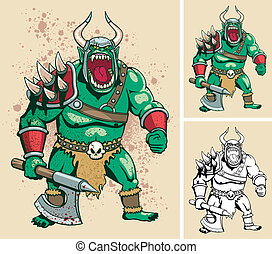Orc - Illustration of orc. It is in 3 different versions. No...