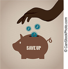 save up design over beige background vector illustration