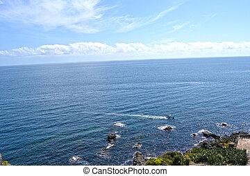 rocoso, Costa, sicilia
