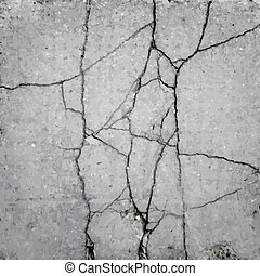 crack in the asphalt texture vector