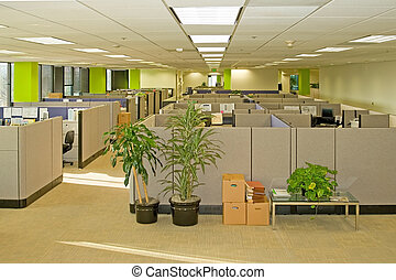 Office Spaces - Corporate office settings showing desks,...
