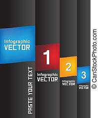 Minimal infographics 3 steps