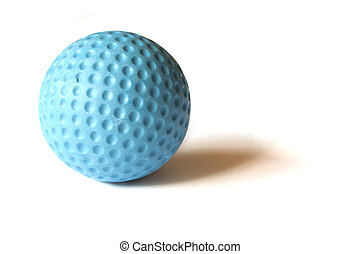 Mini Golf Material - 11 - Blue colored Mini Golf ball on an...