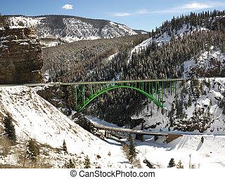 Mountain bridge.
