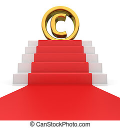 Copyright on red carpet