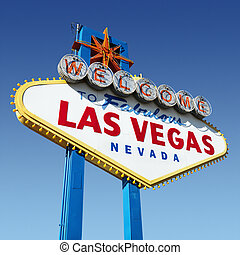 Las Vegas welcome sign. - Welcome sign for Las Vegas,...