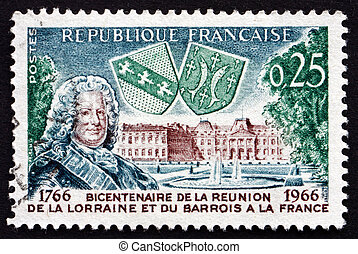FRANCE - CIRCA 1966: a stamp printed in the France shows...