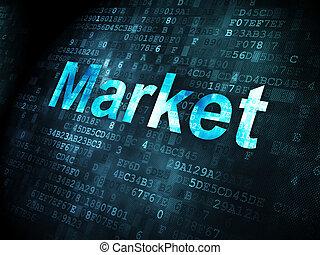 Business concept: Market on digital background