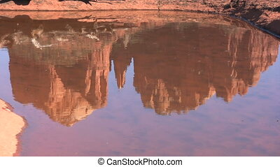 Cathedral Rock Reflection - a reflection of cathedral rock...