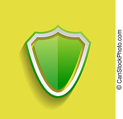 Vector protection shield flat icon