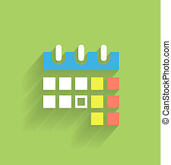 Calendar icon modern flat design