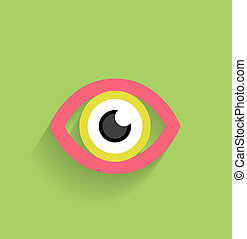 Eye vector icon flat modern design