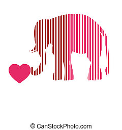 Merry abstract funny elephant PINK