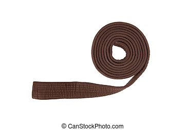 Brown belt isolated on a white background