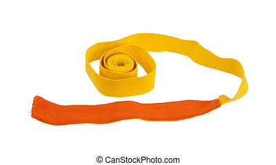 Yellow belt isolated on a white background