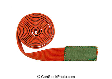 Orange belt isolated on a white background