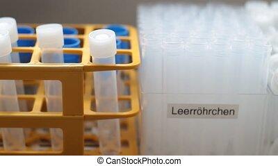 Medical Lab - test  tubes - front