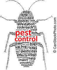 Pest Control Word Cloud Vector Illustration