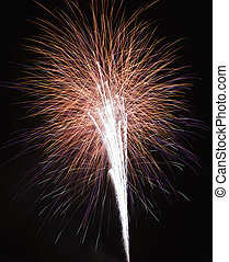 Fireworks at night - Colorful fireworks exploding in night...